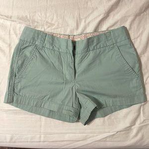 J crew linen chino shorts 100% cotton jcrew green